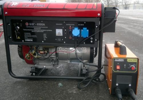 Бензиновый генератор Калибр ДЭГ-6500А