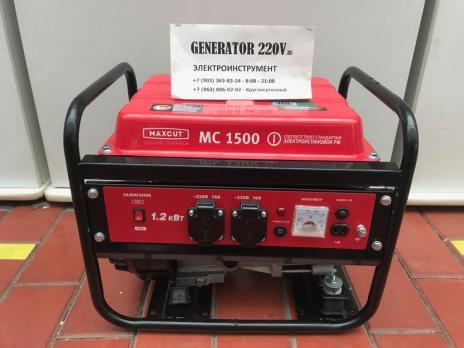 Бензиновый генератор MaxCut MC 1500 EG