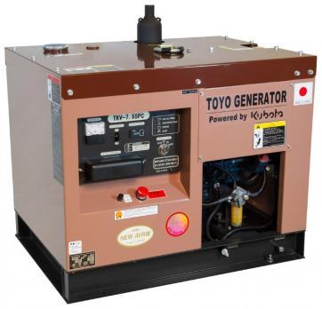 Дизельный генератор Toyo TKV-7.5SPC в кожухе Москва