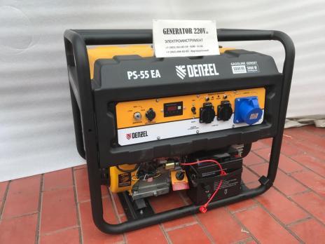 Купить Бензиновый генератор DENZEL PS 55 EA Москва